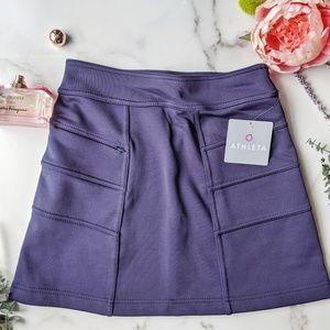 ATHLETA Blizzard fleece warm up skirt mini A002